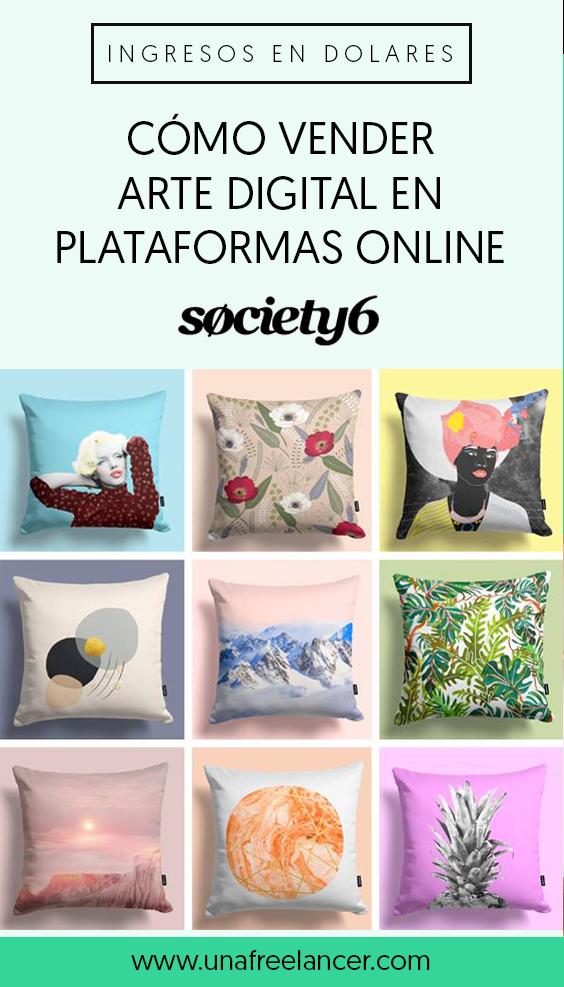 Vender ilustraciones digitales y fotografía en Society6