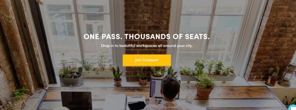 Croissant App - Coworkings baratos para freelancers