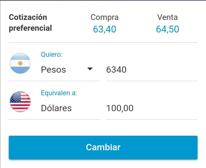 Cotización dolar Prex para retirar dólares de Paypal en Argentina