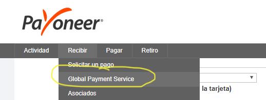 Recibir pagos del exterior a través de Payoneer